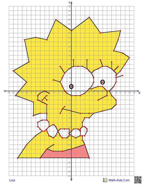 Graphing Worksheets | Four Quadrant Graphing Characters Worksheets ...