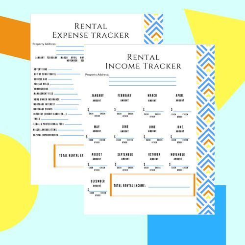 Rental Income And Expense Tracker Rental Income Expense Tracker