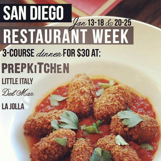 San Diego Restaurant Week is right around the corner! Dine with us from January 13-18, 20-25 and get 3-courses for dinner for $30!