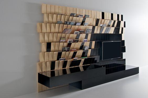 VLNA - TV / Wall Storage Unit, design: KMZB Prague