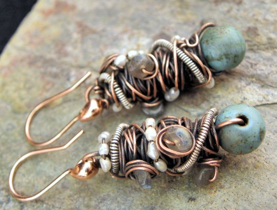 Earrings |  Joanne Ortiz from ThePurpleLily Designs on Esty.