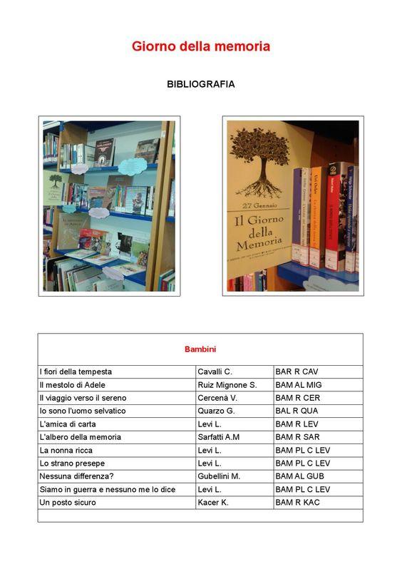 Bibliografia dei libri e dei DVD  suddivisi per fasce d'età (Bambini, Ragazzi e Giovani Adulti) disponibili in Biblioteca Provinciale Ragazzi.