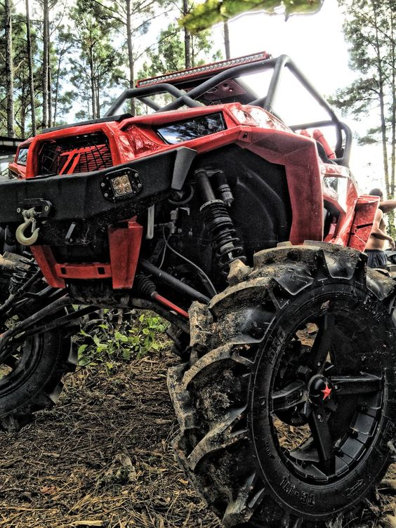 Big Red Polaris Rzr 1000 Quad Bike Off Road