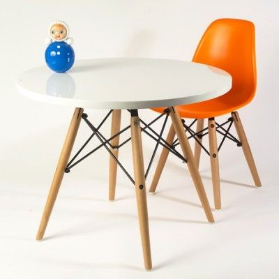 Table ronde enfant blanc kids room pinterest tables for Chaise pour table ronde