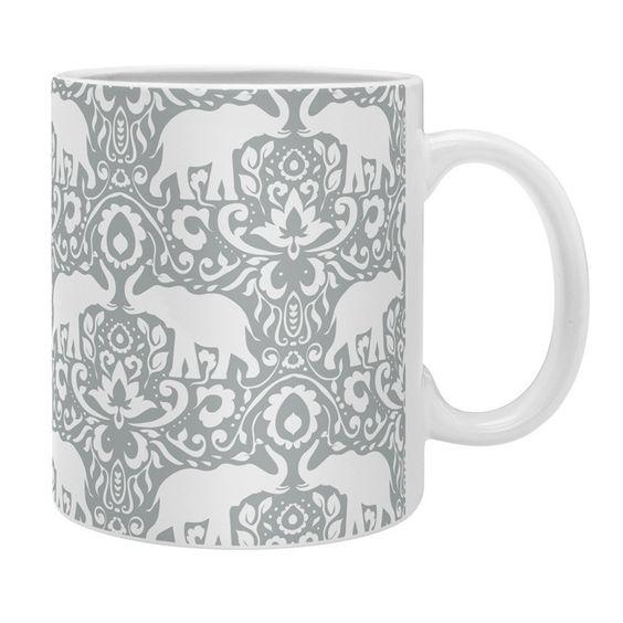 Jacqueline Maldonado Elephant Damask Paloma Coffee Mug | DENY Designs Home Accessories