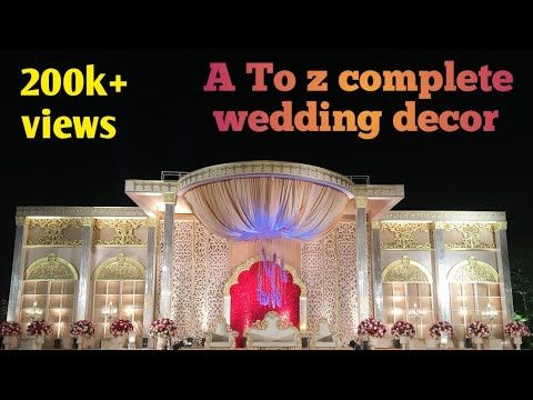 Indian Royal Wedding Decoration Idea Weddingdecordes Weddingstage Diybudget Decor Youtu In 2021 Indian Wedding Decorations Wedding Event Decor Wedding Decorations