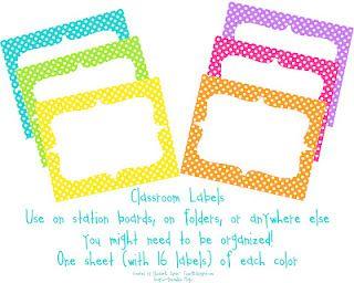 cute polka dot labels