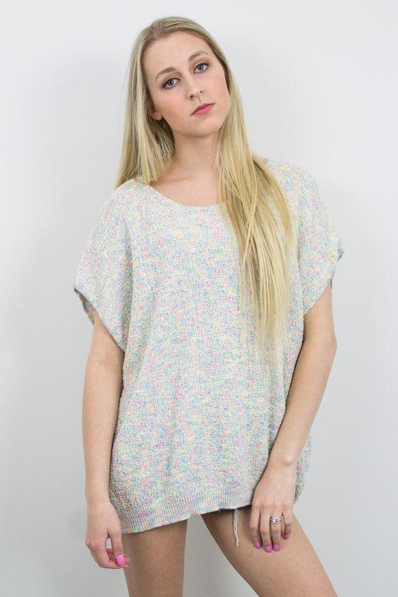 Vintage Pastel Sleeveless Top