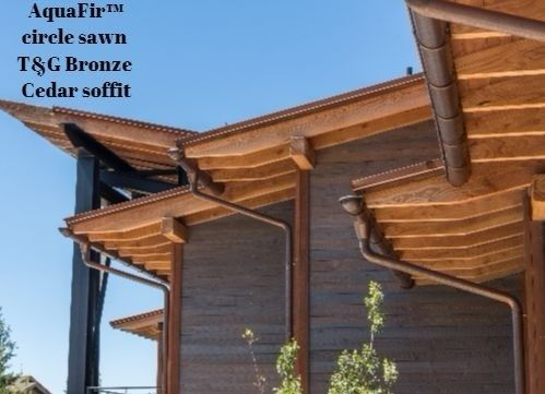 Tongue And Groove Cedar Soffit From Aquafir Product With Images Wood Siding Architectural Elements Reclaimed Barn Wood