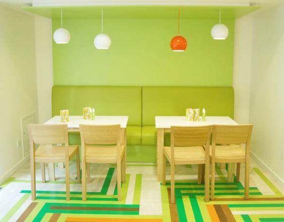 Multicoloured Interior Design for A Mexican Food Restaurant ...