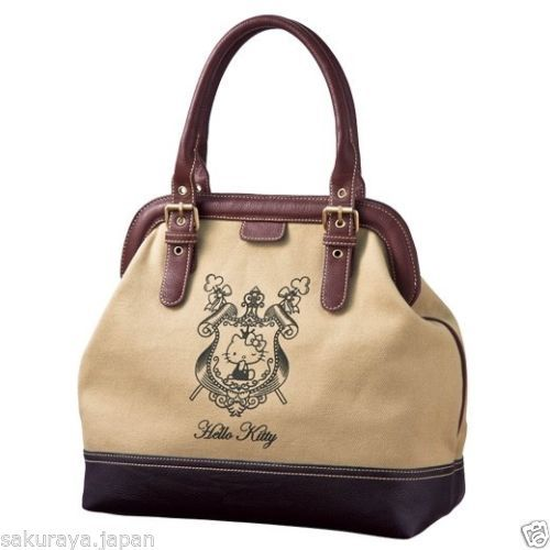 Hello Kitty Emblem Shoulder Tote BAG Handbag Purse Pouch Sanrio From Japan Gift | eBay