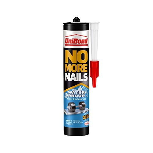 Unibond No More Nails Waterproof Heavy Duty Mounting Adhesive Strong Glue For Mirrors Wood Ceramic Metal Etc Instant Grab Adhesive Indoor Outdoor 1 X 450g Ca
