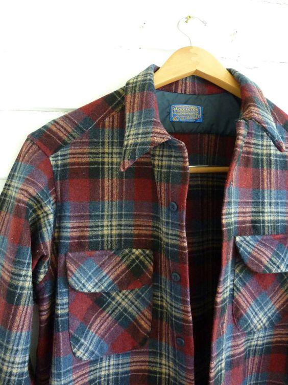 Vintage Pendelton Wool Plaid Board Shirt by CampHoneybelle on Etsy, $40.00