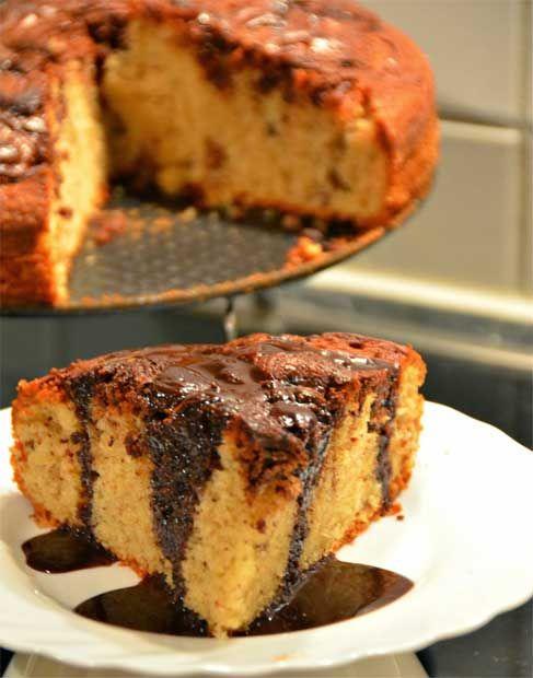 طرز تهیه کیک شکلاتی با موز و گردو Cooking Recipes Food Banana Walnut