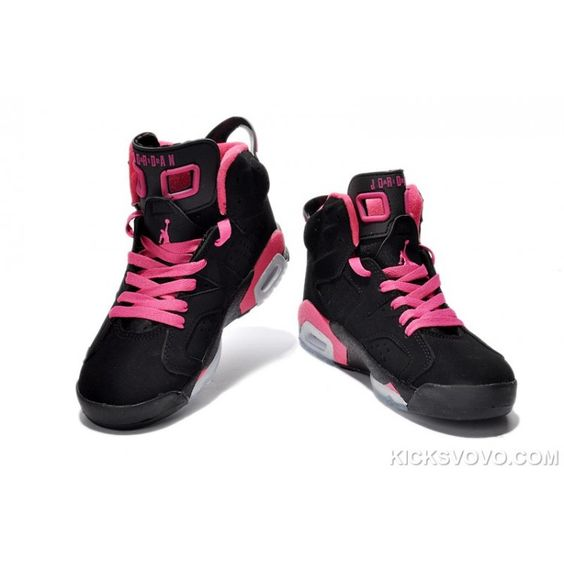 nike chaussures jaunes - Women's Air Jordan 6 Air Sole High Black Pink | WOMEN'S JORDAN 6 ...