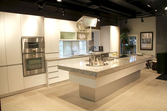 Kitchen Showroom Carrara Marble And Kitchen Designs On Pinterest