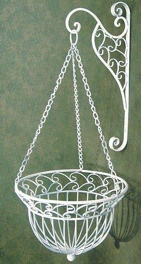 Flower Basket Hanging Brackets : Hanging flowers baskets and flower on