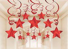 deko spiralen sterne 30 tlg rot silvester geburtstag jubil um girlande dekoration pinterest. Black Bedroom Furniture Sets. Home Design Ideas