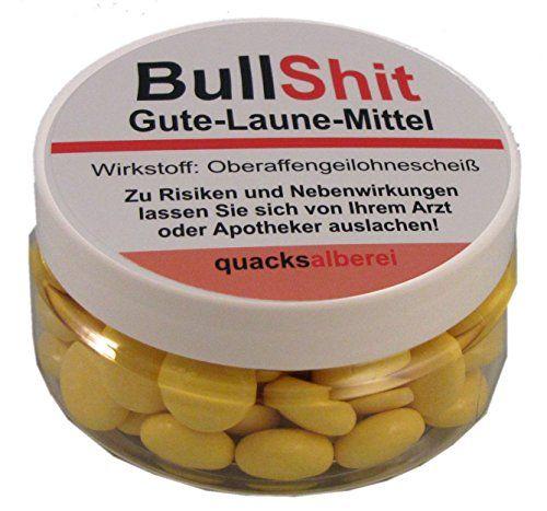 "Lustige Pille ""BullShit Gute-Laune-Mittel"" (Traubenzucker... https://www.amazon.de/dp/B00MFGOSY6/ref=cm_sw_r_pi_dp_x_XIpfybFWEM82D"