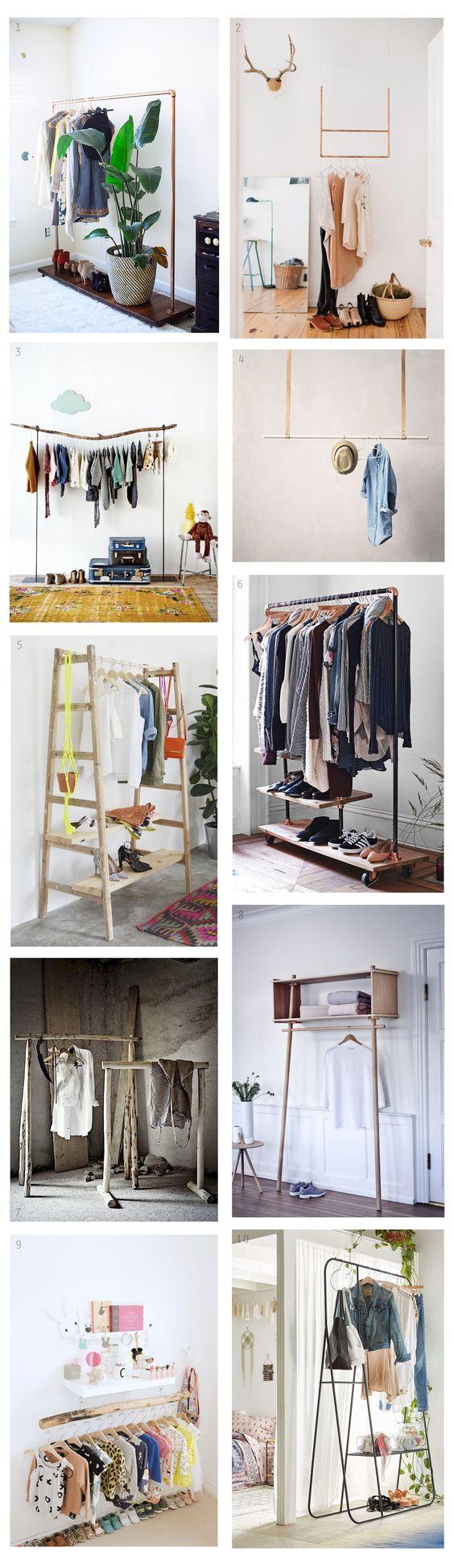 DECO ideas: Percheros, de imprescindible en las tiendas de ropa a rey de los dormitorios.  https://thecreativejungleblog.wordpress.com/2016/01/30/deco-inspiracion-percheros/  Más en The Creative Jungle: