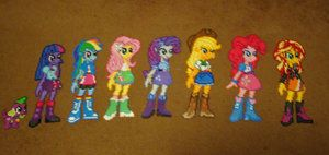 Equestria Girls Perler Collection by Pika-Robo