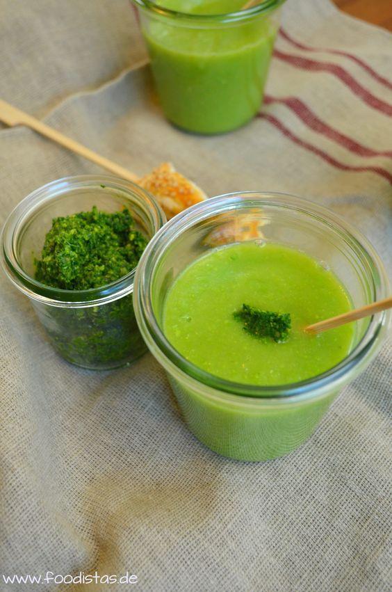 Kohlrabi-Erbsen-Cremesuppe