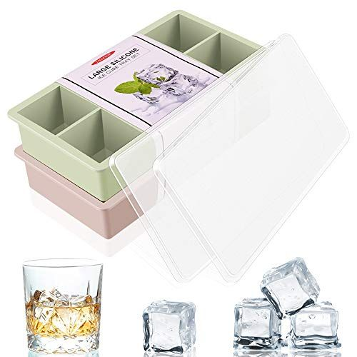 Lngoor Large Ice Cube Trays 2 Pack Easy Release Silicone Https Www Amazon Com Dp B07rt4r74m Ref Cm Mini Ice Cube Tray Ice Cube Molds Large Ice Cube Tray