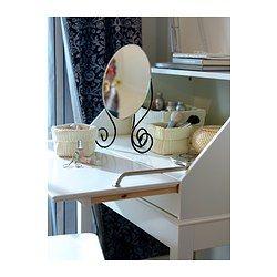 MYKEN Table mirror, dark brown - 25x37 cm - IKEA