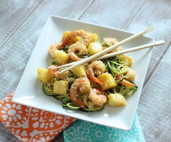 Shrimp Pineapple Zucchini Teriyaki