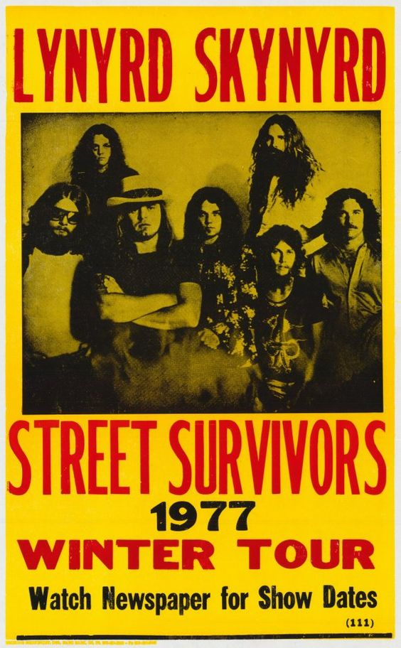 Lynyrd Skynyrd.  Great showcase of typical 1970's concert poster artwork - simplicity