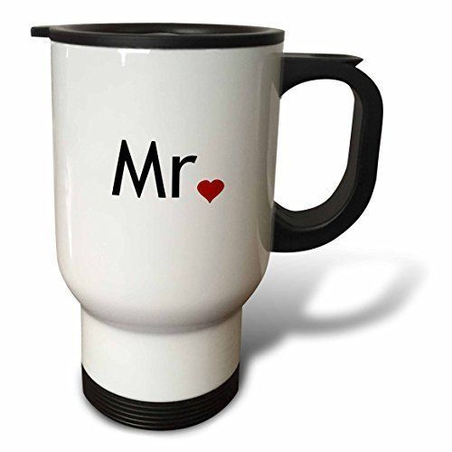 YuieKim Mr with Red Love Heart 14Ounce Travel Coffee Mug * Click image for more details.