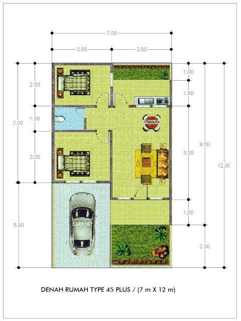 Rumah Minimalis Klasik Modern Terbaru Denah Rumah Type 45 Tahun 2016 Planos Problemas