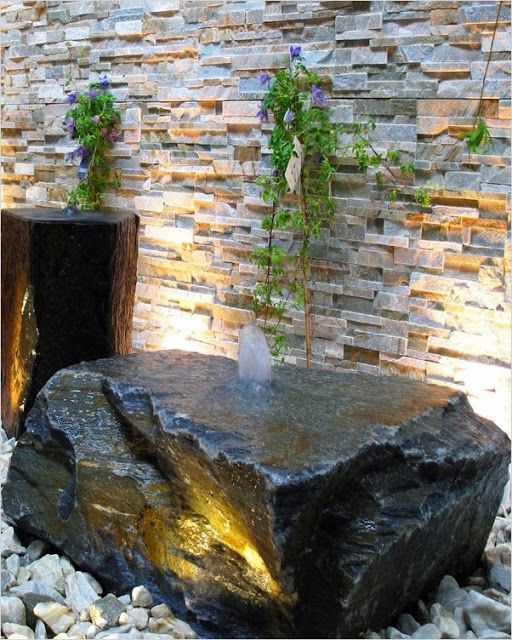 Our Custom Fountain And Backyard Waterfall Kits Have Everything You Need To Add Curb Appeal And Relaxat In 2020 Stone Water Features Water Features Pond Water Features