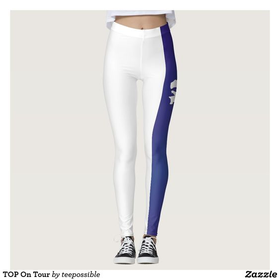 TOP On Tour Leggings for the cycling girl training for her next race, tour to France, or for exercise around her world.