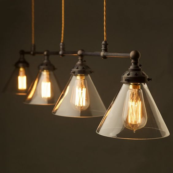 Pool Table Light Modern: Bronze-Four-Lamp-Billiard-table-light