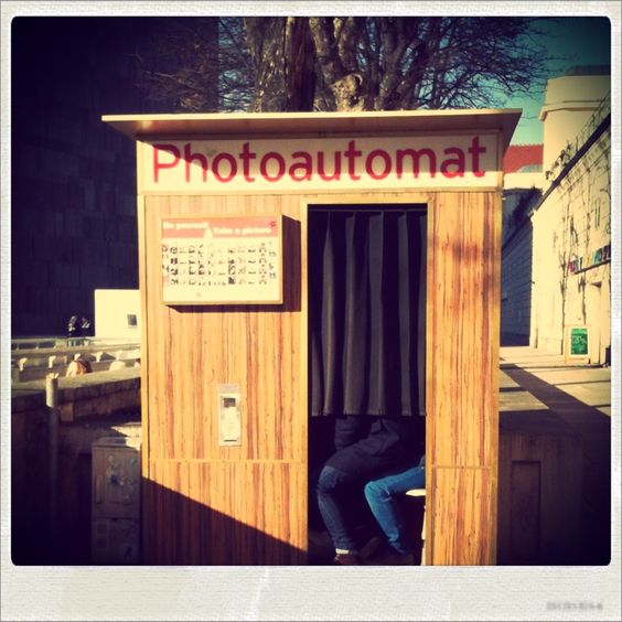 Vintage photoautomat in vienna