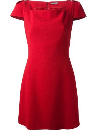 ALEXANDER MCQUEEN - Crepe Cap sleeve mini dress