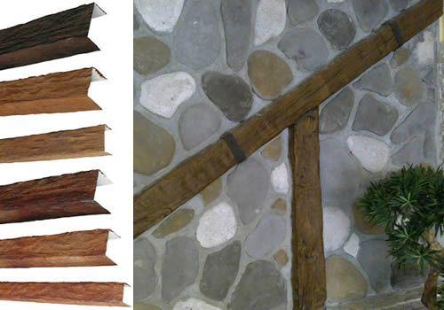 Kunststoff Holzbalken Deckenbalken Wandpaneele Wandpaneele Steinoptik Steinverkleidung