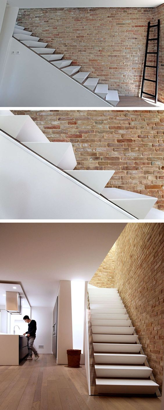 design detail wedge shaped stairs stairs pinterest