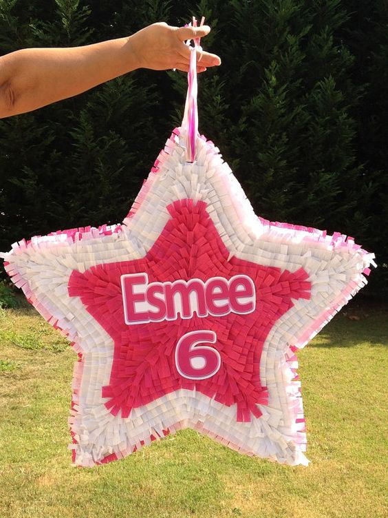 Star Pinata. Large Star Pinata. Customizable Star Pinata