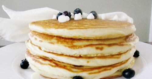 White Chocolate Blueberry Pancakes
