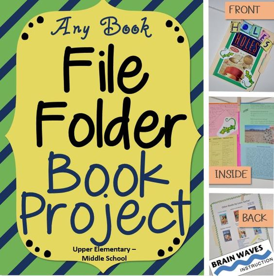 Creative Character Design Book : Book report file folder reading project