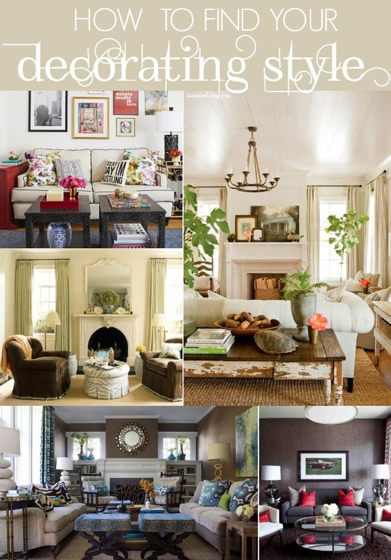 Great tips on how to find your own decorating style. How to Decorate for the DIY'er series.