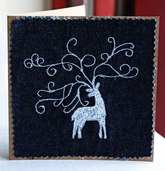 Stag card by Clobber-Creations.deviantart.com on @DeviantArt