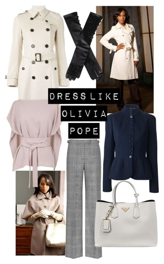 Dress like Olivia Pope by susanzf on Polyvore featuring polyvore, fashion, style, TIBI, Burberry, Prada and MaxMara