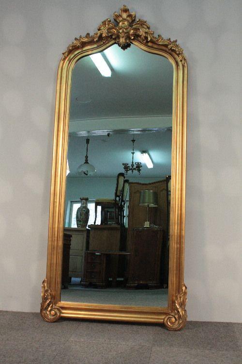 Imponujace Lustro W Zlotej Ramie Z Korona Promocja 7738956672 Oficjalne Archiwum Allegro Mirror Oversized Mirror Decor
