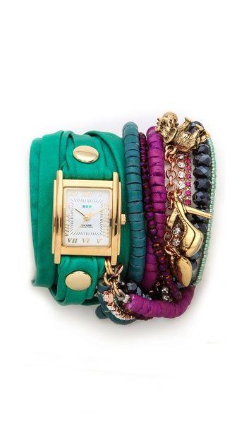 La Mer Collections Copacabana Multi Chain Wrap Watch