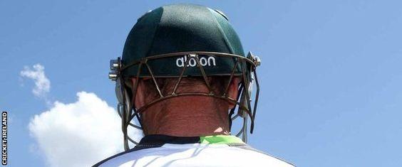 Cricket World Cup: Ireland's John Mooney bats in customised helmet - well it's wearable tech!