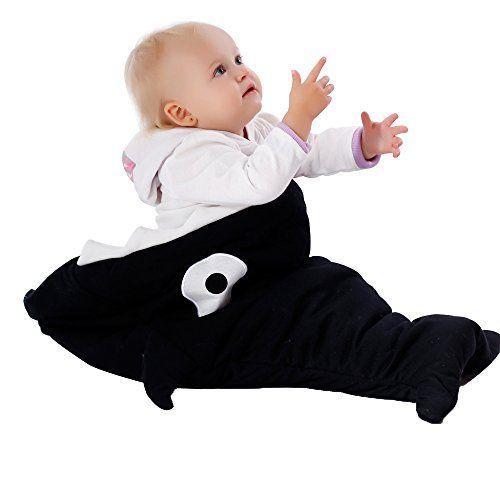 Scheppend-Hai-Baby-Schlafsack-neugeboren-SchlafScke-73cm-x-98cm-Schwarz
