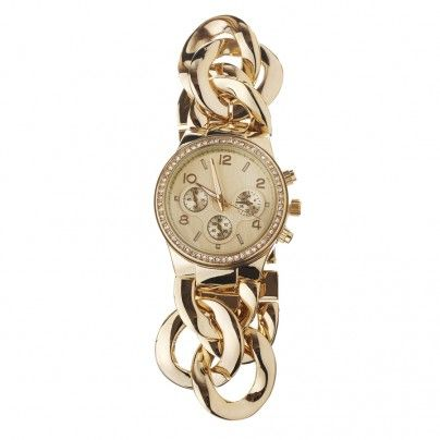 Gold Metal Chain Link Timepiece  $34.99